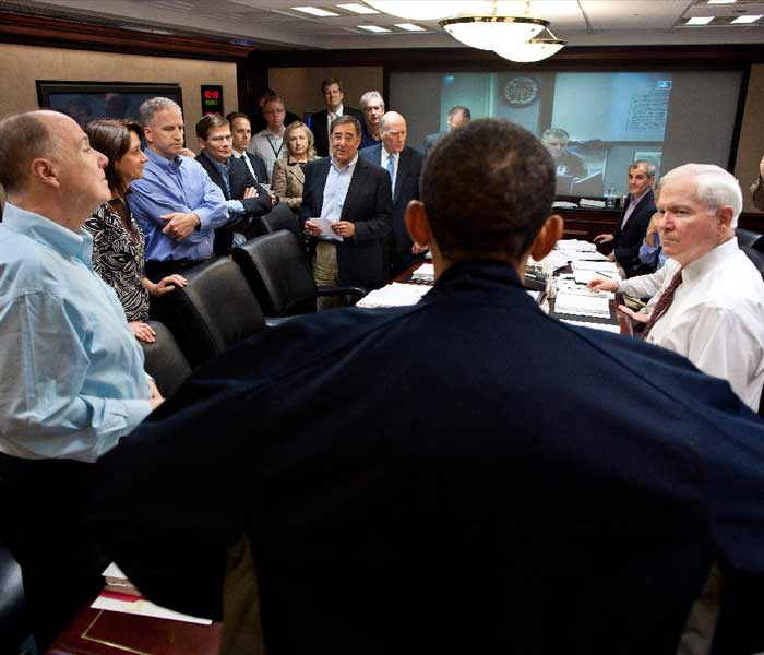 White Trash In The White House Talks Education: Obama And Team Watch Bin Laden Operation Unfold