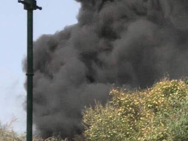 Photo : Major Fire Breaks Out at Parliament Premises
