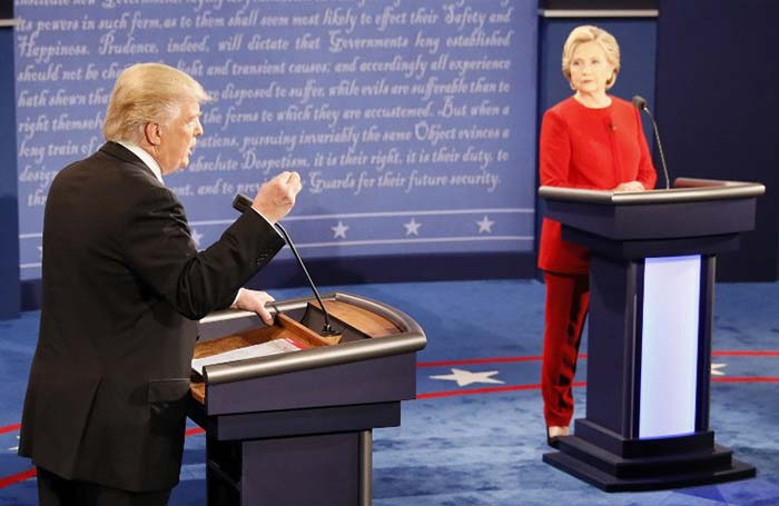US Presidential Debate: Hillary Clinton and Donald Trump Come Face To Face