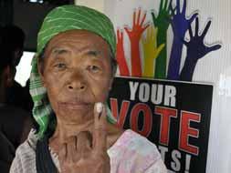 Photo : Six seats in North East vote in round two of national election