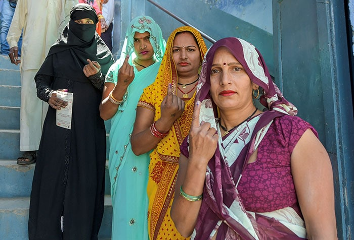 Women Voters Come Out In Large Numbers To Exercise Their Franchise