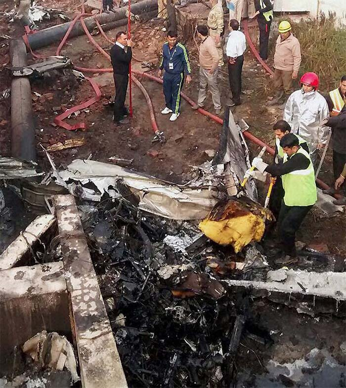 First Pics Bsf Plane Crashes In Delhi 10 Dead Photo Gallery