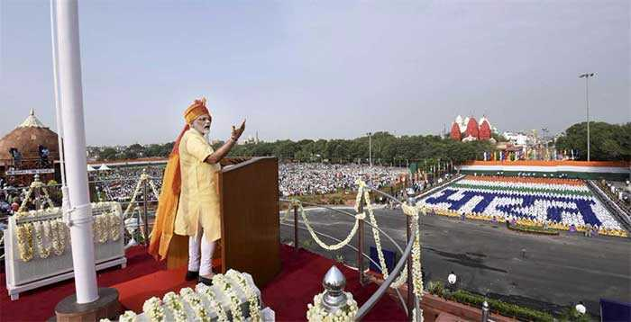 In Pics: PM Narendra Modi\'s Independence Day Address At Red Fort