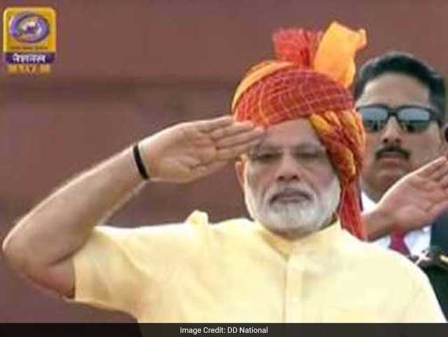 Photo : In Pics: PM Narendra Modi's Independence Day Address At Red Fort
