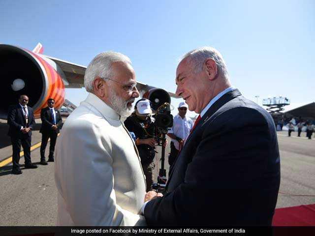 Photo : PM Modi's Historic Visit To Israel: Day 1 In Pics