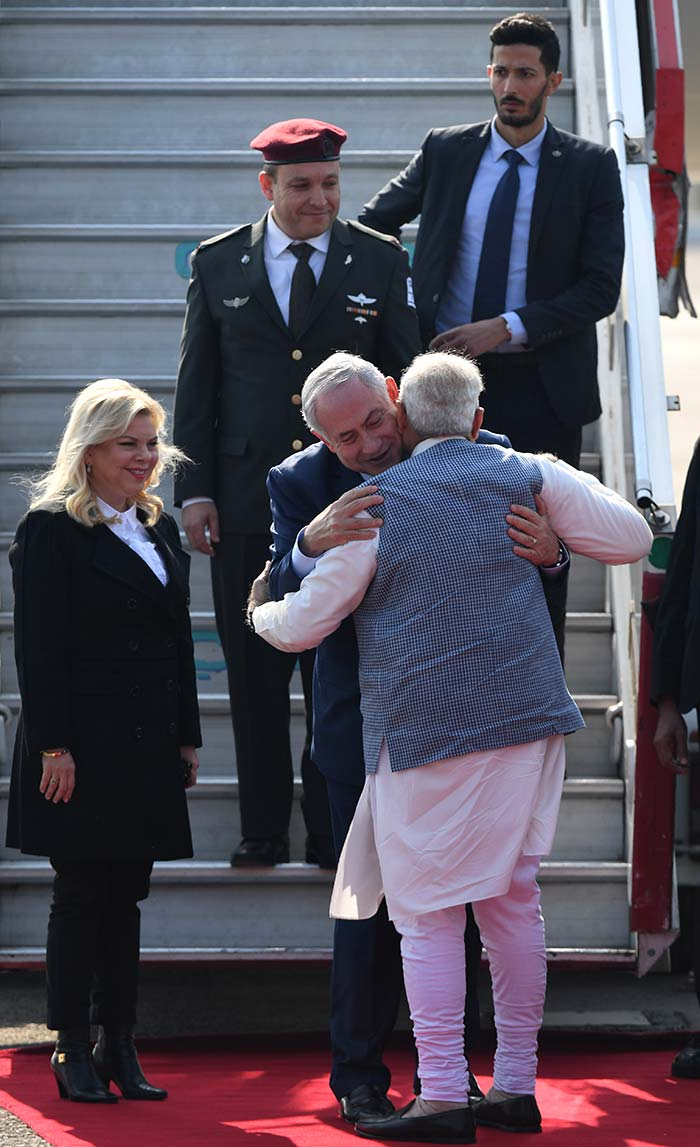 In Pics: With Hug And Handshake, PM Modi Welcomes Benjamin Netanyahu At Airport