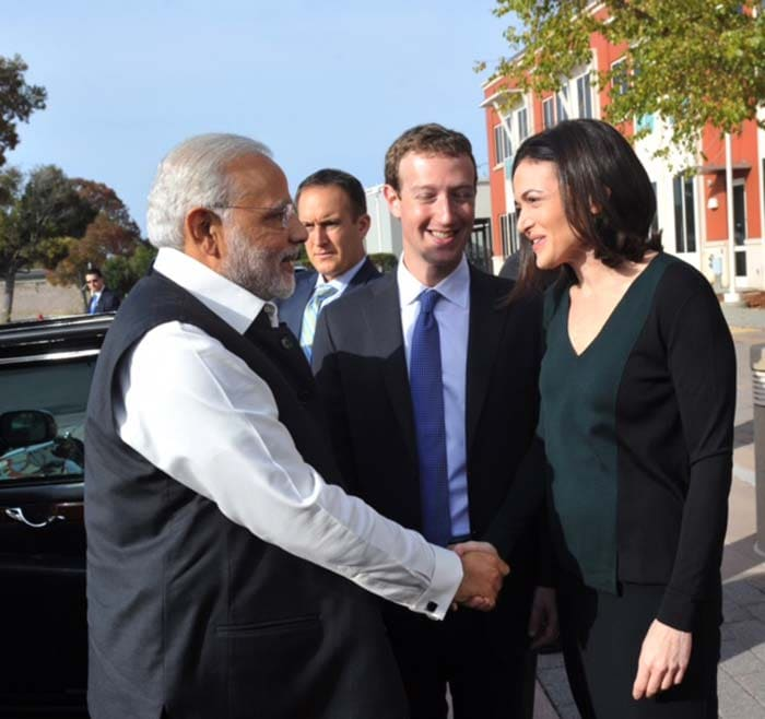 5 Pics: Suits and Ties at Casual Facebook for PM\'s Modi\'s Visit