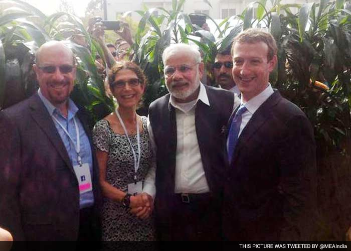 5 Pics: Suits and Ties at Casual Facebook for PM Modi\'s Visit
