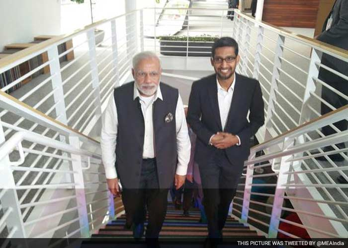 office of google. 5 pics at google office pm modi gets a glimpse of project iris e