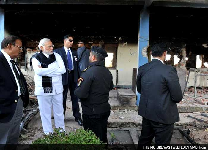 5 Pics: PM Narendra Modi Visits Pathankot Base