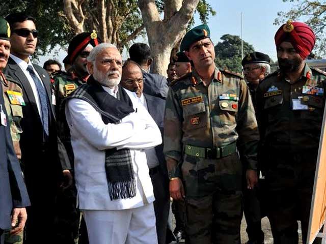 Photo : 5 Pics: PM Narendra Modi Visits Pathankot Base