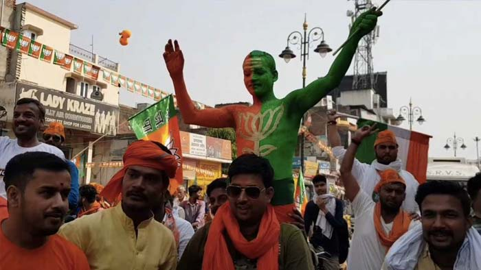 In Pics: Sea Of Saffron Greets PM Modi During Varanasi Roadshow