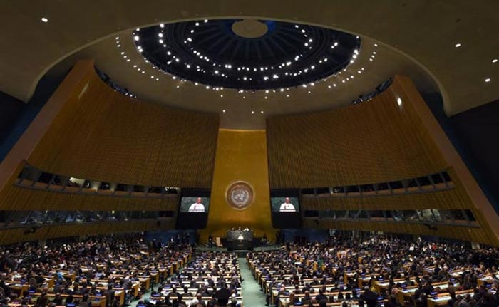 In a First Pope Francis Addresses UN General Assembly