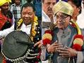 Photo : Pranab, Sangma on the campaign trail