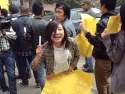 Photo : Protest in Delhi against Arunachal Pradesh student's death
