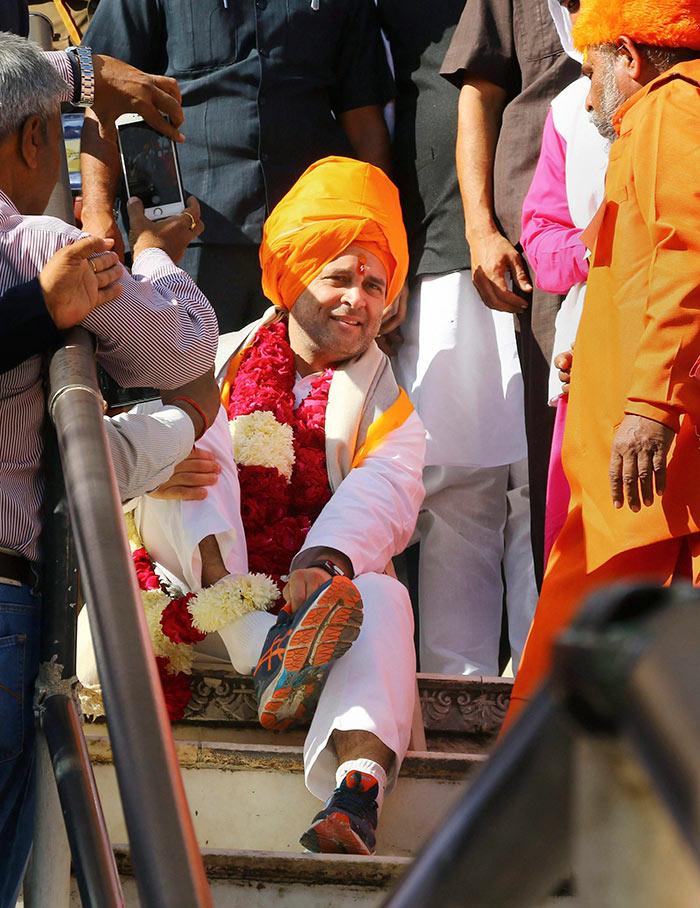 राहुल गांधी ने ख्वाजा मोइनुद्दीन चिश्ती की दरगाह में जियारत की, पुष्कर के ब्रह्मा मंदिर भी गए