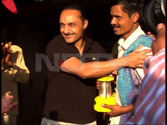 Rahul visits his adopted village