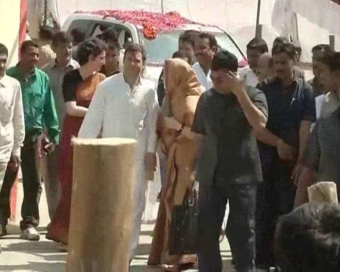 Rahul Gandhi files his nominations from Amethi