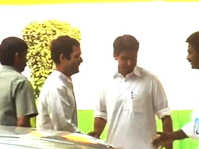Rahul Gandhi in Mumbai, city on edge