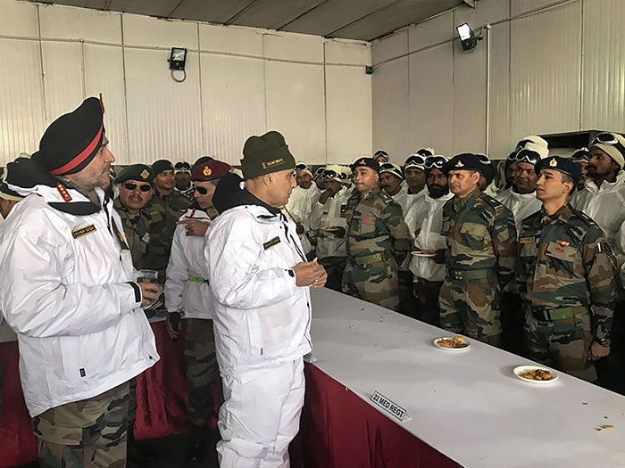 Rajnath Singh\'s First Visit As Defence Minister To Siachen Army Base