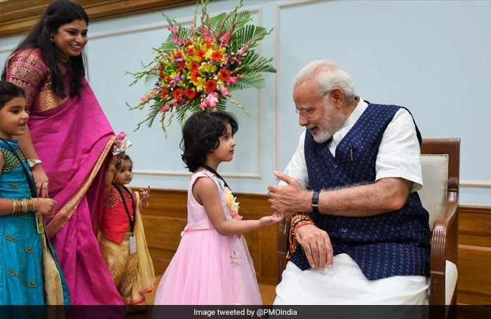 Pics: From Children To PM Modi, How Rakhi Strings Tied The Nation Today