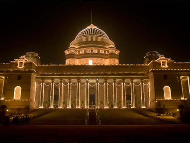Photo : India Illuminated on the Eve of  66th Republic Day Celebrations