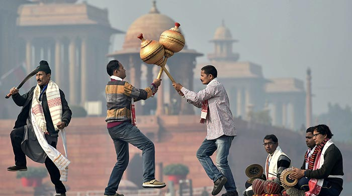 In Pics: Candid Moments From Republic Day Parade Rehearsals