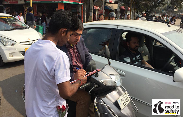 In Pics: Guwahati City Police Comes Forward To Spread Road Safety Awareness