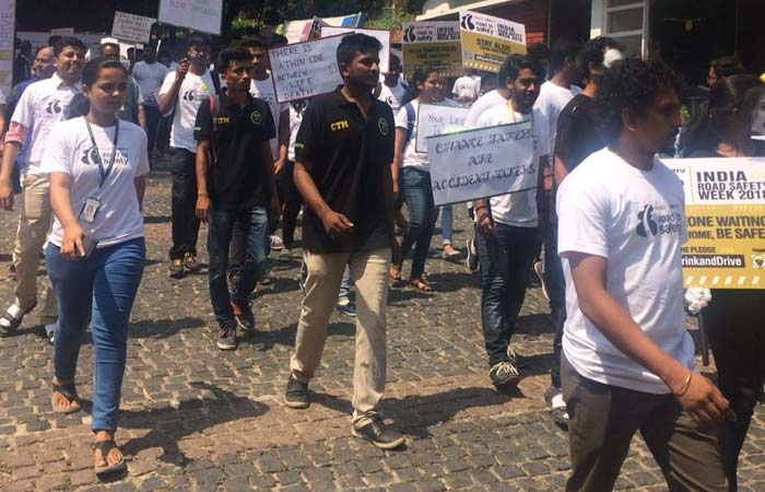 In Pics: Bengaluru Students Do Walkathon To Spread Awareness On Road Safety