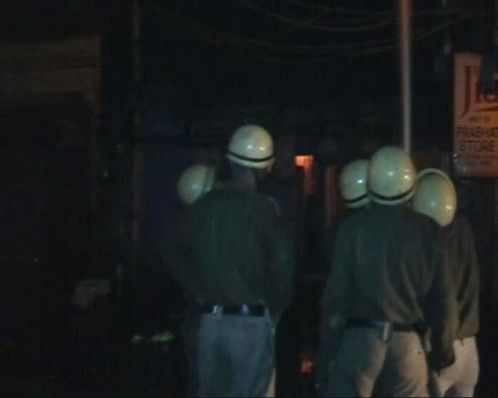 Fire at Sadar Bazar in Delhi