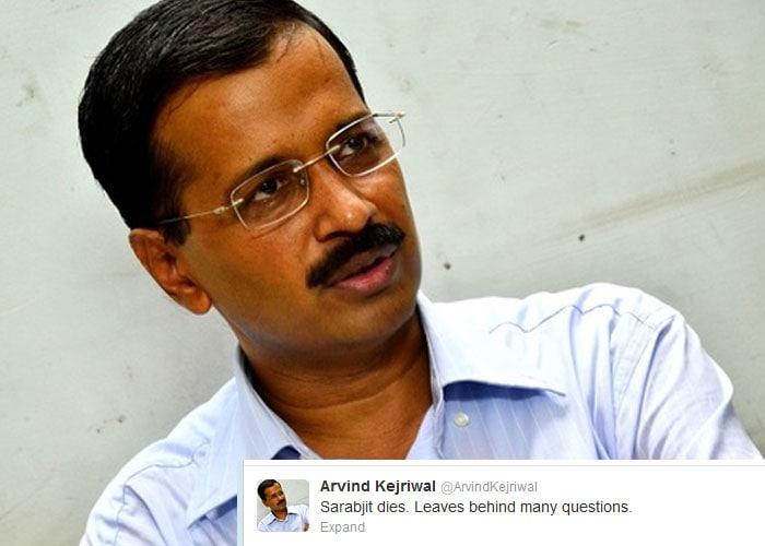 On Twitter, India condemns Sarabjit Singh's death