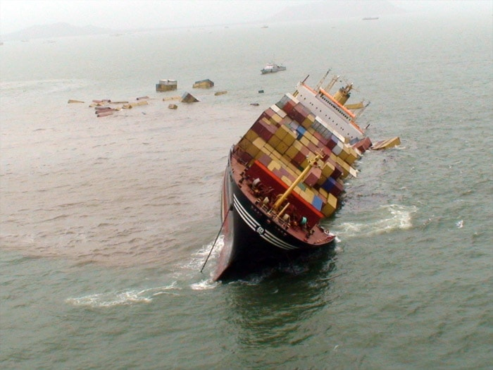In Pics: How ships collided near Mumbai Harbour