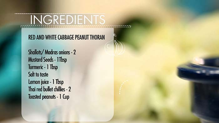 Recipe: South Indian Style Cabbage and Peanut Thoran