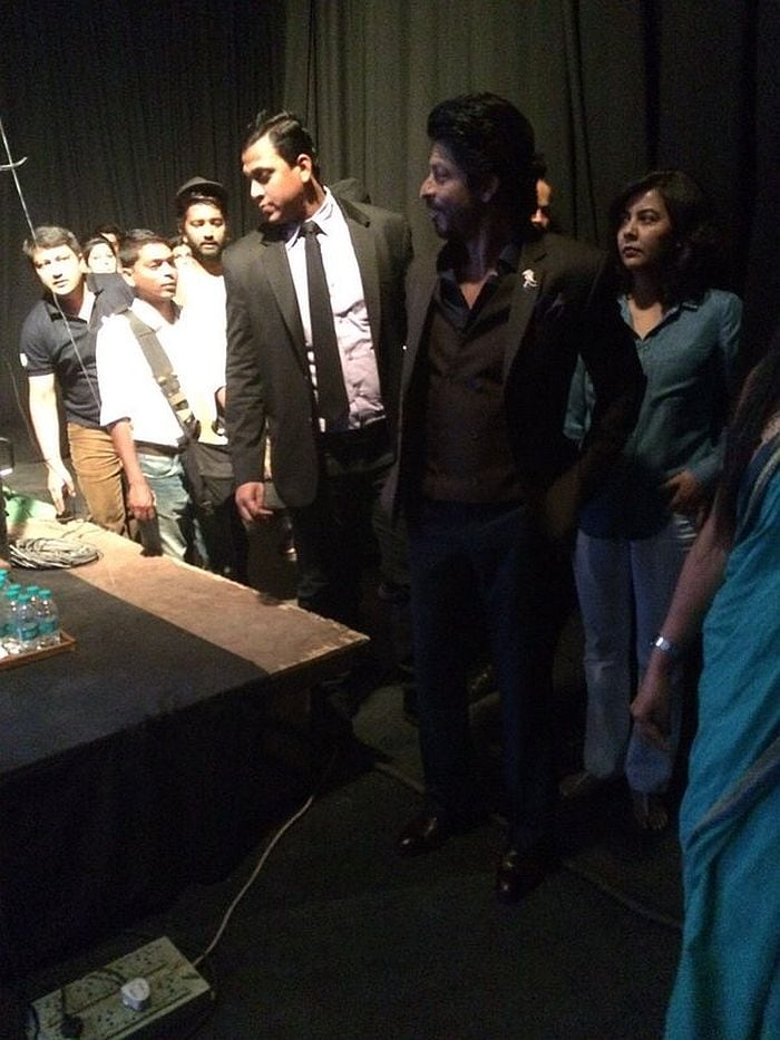 In the House: SRK Stopped by the NDTV Studio