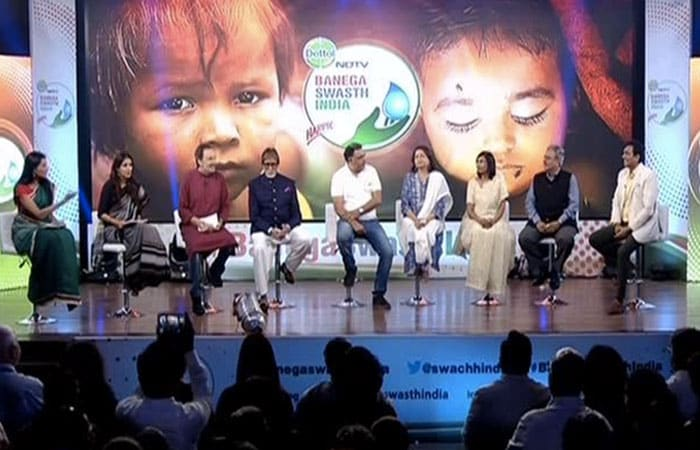 Dettol India And NDTV Banega Swasth India Campaign Launch With Amitabh Bachchan