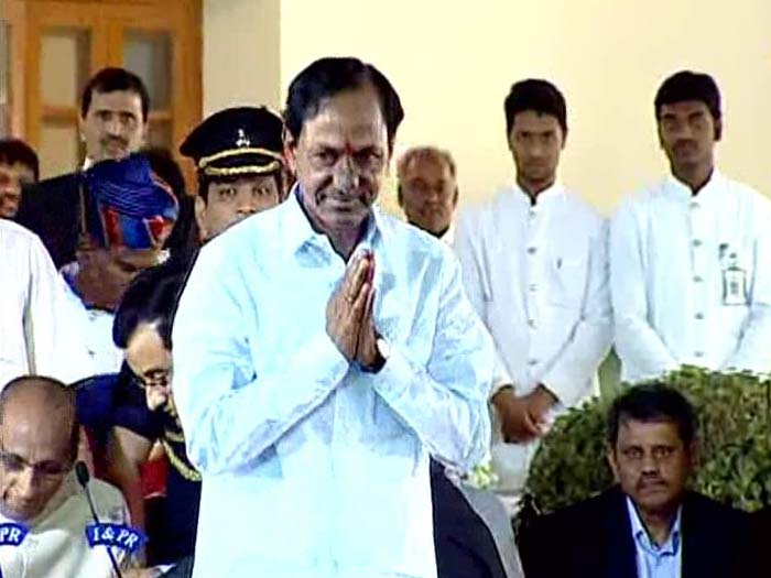 K Chandrasekhar Rao Sworn in as First Chief Minister of Telangana