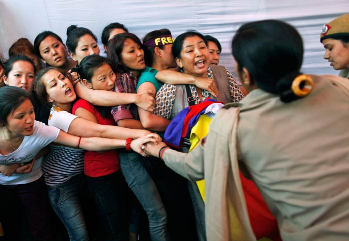 In Pics: Tibetans stage protests in the capital