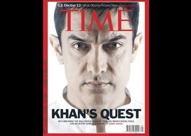 Aamir Khan on the cover of Time magazine
