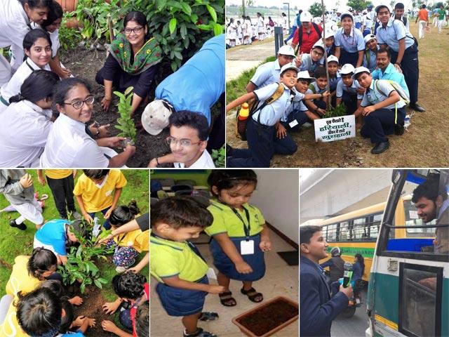 Photo : 'बनेगा स्वच्छ इंडिया' के तहत स्कूलों में वृक्षारोपण अभियान की हुई शुरुआत