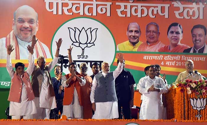Political Heavyweights, Sea Of Supporters Flow Through Varanasi