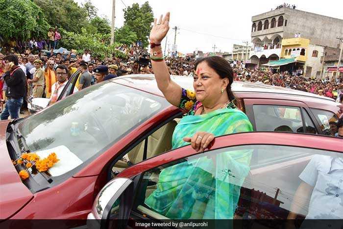 Vasundhara Raje\'s \'Rajasthan Gaurav Yatra\' In Pictures