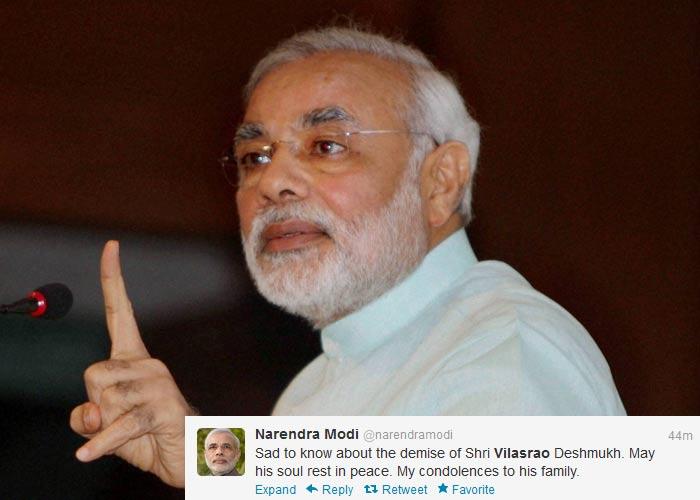 Politicians, celebs mourn Vilasrao Deshmukh on Twitter