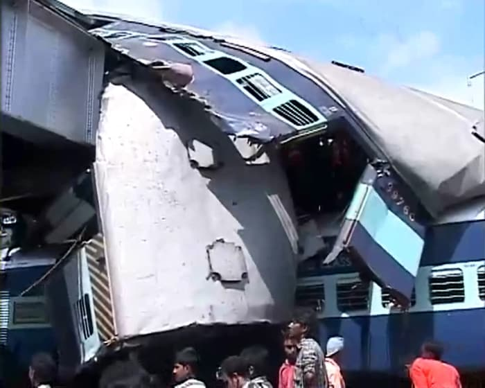 Train accident in West Bengal