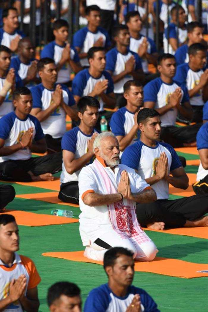 Fourth International Yoga Day Celebrations: Pictures