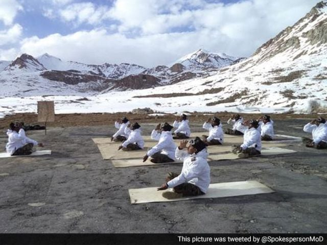Photo : In Pictures: Yoga Day Celebrations Across India