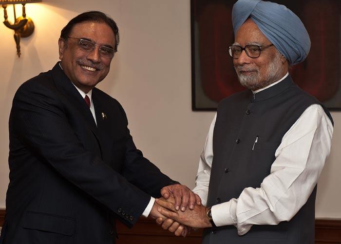 Pakistani President Zardari meets Prime Minister Manmohan Singh