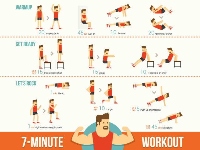Photo : Get Fit: Everything You Want to Know About the Scientific 7-Minute Workout