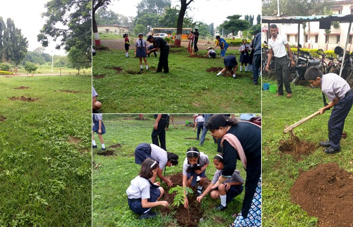 In Pics Schools Across India Planted Saplings For A Greener Future