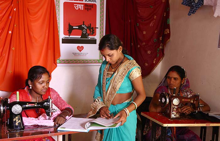 Two Women From Kanha Forest In Madhya Pradesh Learn Stitching To Create Extra Avenues Of Income