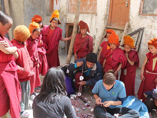 Photo : Lighting Up Phugtal Monastery